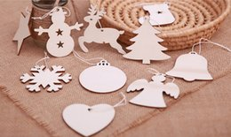 Gift Craft Christmas Ornament Australia - Christmas Wooden Hanging Ornaments Snowman Socks Elk Tree Star Pattern Wood Chip Hanging Pendant Crafts Christmas Decoration Toys Xmas Gift