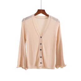 4a0b300f3f3 6colors 2018 new spring summer women knitted cardigan mujer female one  button air conditioning shirt outside sweater thin shawl