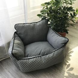 Large Housing Australia - New Creative Soft Sofa Small Dog Kennel Soft House Mat Canvas Bite Cat Bed Sleep Warm Nest Lovely Pet Supplies 45my aa