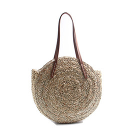 NEW Female Straw Bag Summer Style Bohemia Women Handbags Big Shoulder Bags  Fashion Knitted Beach Straw Bag High Quality Design e8296b39f018e