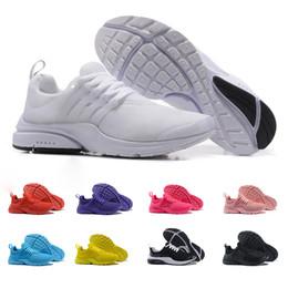 new styles a77fe 15840 2018 Presto Chaussures De Course Hommes Femmes Ultra BR Air QS Jaune Rose  Prestos Noir Air Blanc Oreo Extérieur Jogging Hommes Baskets Baskets Taille  36-46