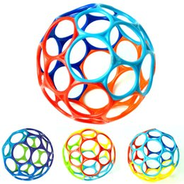 Discount baby toys led - Leading Star Soft Rainbow Ball Toys Touch Bite Caught Hand Oball Ball for Baby Learning Grasping Kids Gift zk25 Learning