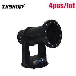 stage machines UK - 80% Off 1200W Launcher Confetti Machine DMX DJ Wedding Party Event LED Cylinder Round Professional Stage Lighting Equipment Free Shipping