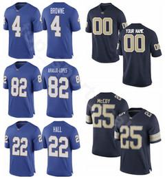 Pittsburgh Panthers Pitt 1 Larry Fitzgerald Jersey Navy Blue College  Football 82 Rafael Araujo-Lopes 9 Whitehead 10 Quadree Henderson bd4cc0635