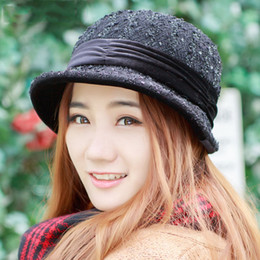 black fedora hats for girls 2018 - 2018 autumn winter hats for women fashion Foldable lady Fedoras hat Autumn caps hat girl female Floppy gorro feminino di