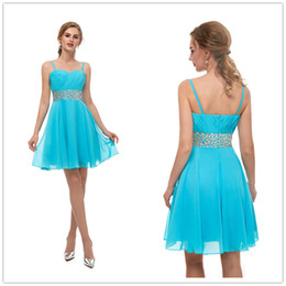 $enCountryForm.capitalKeyWord NZ - 2019 Cheap blue Short prom Dresses chiffon Homecoming Dresses A Line sweetheart girls party Gowns with beaded in stock size 2-16 13669