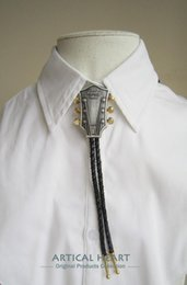 Neck Plate NZ - Original Vintage Silver Plated Guitar Music Wedding Bolo Tie Necklace Neck Tie BOLOTIE-MU044SL