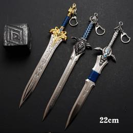 Toys swords online shopping - Metal Keychain Lion Head Sword Key Buckle Children Kids Toys Gifts Leon King Dragon Claw Swords Keyring Home Decor mg bb