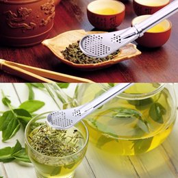 Wholesale Filter Straws NZ - Stainless Steel Drinking Straw Filter Handmade Yerba Mate Tea Bombilla Gourd Washable Practical Tea Tools Bar Accessories