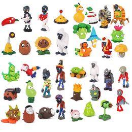 Pvz figures online shopping - Mini PVZ Plants vs Zombies Action Figures Toy doll cartoon solid PVC hands do doll car decoration drop children s holiday gifts cm