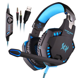vibration gaming headsets 2018 - KOTION EACH G2100 Gaming Headset Headphones Vibration Function With Mic For PS4 Xbox One PC Tablet Computer Free DHL