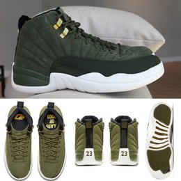 a73587f7e54002 2018 New 12 Graduation Pack Release 12s CP3 CLASS OF 2003 Olive Green Suede  Basketball Shoes Mens Trainers Brand Jumpman 130690-301 40-47