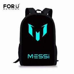 $enCountryForm.capitalKeyWord UK - wholesale Black Boys School Backpack Luminous Messi Ronaldo Print Children School Bags Canvas Kids School Book Bag Mochila Bag