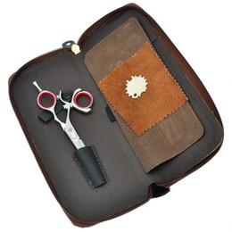Top Barber Shears Australia - Purple Dragon 5.5 Inch 360 Degree Rotate Left Hand Hair Scissors Hair Cutting Shears for Salon Barber Top Grade Hairdressing Tesoura LZS0637