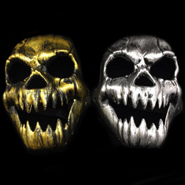 Clothes themes online shopping - Halloween Scary Skeleton Skull Face Mask Game Halloween Veil Balaclava Ghost Hood Cosplay Costume Theme Party Clothing Props FFA803