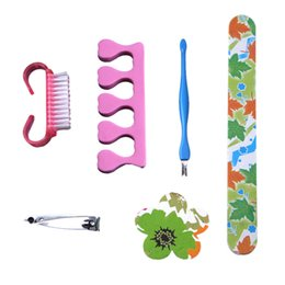$enCountryForm.capitalKeyWord NZ - Colorful Nail Clippers Suit Nail File Set Art Kits Accessories Profesional Multi-Function Convenient