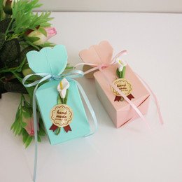 $enCountryForm.capitalKeyWord UK - New Wedding Favor Boxes Vase Candy Box With Flower Originality Paper Gifts Boxes Baby Shower Party Decoration Hot Selling
