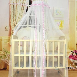 toddler mosquito net 2018 - Baby Bed Mesh Dome Curtain Mosquito Net Durable Toddler Crib Cot Canopy Bed Net cheap toddler mosquito net