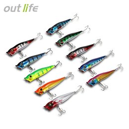 Japan Fishing Lures Wholesale Australia - 10 pcs Big Popper Fishing Lures 3d Eyes Bait Crankbait lure Wobblers Tackle Isca Poper Japan Hard ABS Popper Baits with Hooks Box