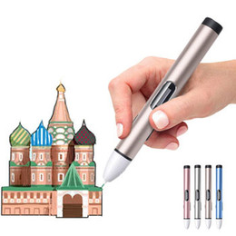 3d drawing online shopping - Fifth generation D Pen d printing pen with OLED screen PCL low temperature filament threads color optional kids gift D drawing pen