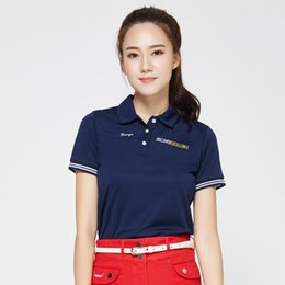Girls Shirt Brands Australia - golf shirts women brand short-sleeve girls shirts summer colorful top golft polo shirt 4 colors size S~XL