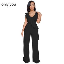 e3f4efc52ae945 7 Fotos Arbeitende frauen overall im Angebot-Only You Black Rüschen  Strampler Büro Arbeitskleidung Asymmetrische Trim Ärmelloses