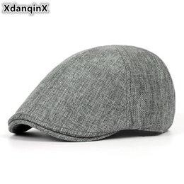 10936e98b6d XdanqinX Summer Retro Men s Cap Ultra-thin Breathable Berets For Men Women  Elegant Women s Flat Caps Beret Ladies Couple Hat New