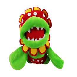 """Soft Toys Sizes UK - New Super Mario Bros Petey Piranha Corpse Flower Soft Toy Plush Doll Collection & For Kids Holiday Best Gift ( 3pcs Lot - Size: 7"""" 18cm )"""