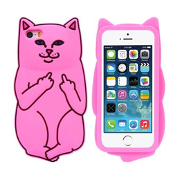 Cute Cat iphone online shopping - 3D Ripndipp Phone Case For Iphone X Cute Cat Silicone Phone Case For Iphone Plus