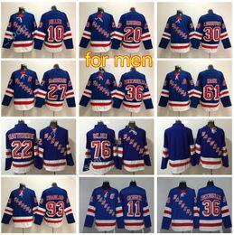 Chinese  Hockey 10 J.T Miller Jersey New York Rangers 11 Mark Messier 20 Chris Kreider 76 Brady Skjei 93 Mika Zibanejad 36 Zuccarello manufacturers