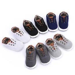 Boys Canvas Slip Shoes Australia - New Canvas Classic Sports Sneakers Leisure Lacing Canvas Shoes Baby Girls Boy Prewalker Shoes Non-slip Infant Baby Soft Sneakers