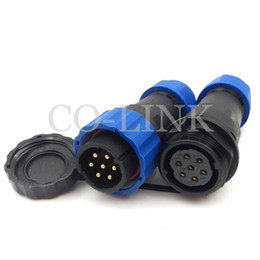Discount ip68 cable connectors - SD20 7pin Waterproof Power Cable Connector,10A 250V Direct Plug High Voltage Cable to Cable Electronic Aviation Connecto