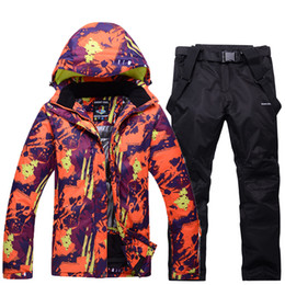 mountain waterproof jacket NZ - Outdoor Warm Unsex Ski Suit Sets Jacket Waterproof Windproof Breathable Climbing Mountain Winter Outdoor Snowboarding Ski Suit