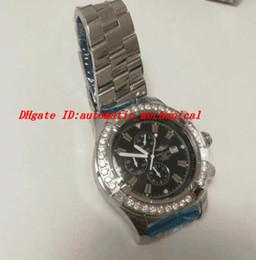 Carat Round NZ - Luxury Watches Mens Evolution 44mm Quartz Movement Stainless Steel 5.50 Carat Diamonds Bezel Fashion Brand Men's Watch Wristwatch