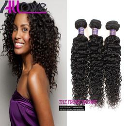 Discount curly brazilian virgin hair wefts - Brazilian Hair Extensions 3Pcs lot Cheap 8A Unprocessed Human Hair Weaves Peruvian Kinky Curly Virgin Hair Wefts Wholesa