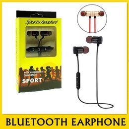 earset iphone Australia - M5 Bluetooth Headphones magnetic metal wireless Running Sport Earphones Earset With Mic MP3 Earbud BT 4.1 For iphone Samsung LG Smartphone