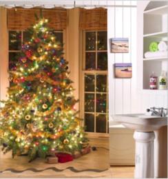 $enCountryForm.capitalKeyWord NZ - Colorful Christmas tree pattern 3D Print Custom Waterproof Bathroom Modern Shower Curtain Polyester Fabric Bathroom Curtain Door mat sets