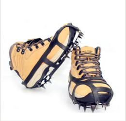 Открытый скалолазание анти-коньках кошки зима ходьба ногти 18 кошки снег обувь марганцевой стали нескользящей бахилы