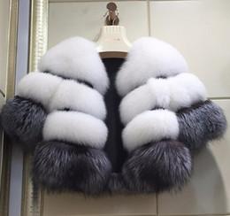 Wholesale natural fox fur coats resale online - New Fashion winter women s Clothes Faux Fox Fur coat Long Sleeve Women s Coat Female Winter Overcoat
