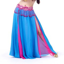 $enCountryForm.capitalKeyWord UK - 13 Colors Dancewear Professional Belly Dance Clothes Flamenco Indian Gypsy High Split Chiffon Two-color Skirts Oriental Practice Belly Skirt