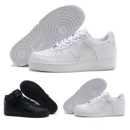 shoes high men brown colour 2019 - 2019 Men&Women High Quality One 1 Running Shoes Low Cut All White Black Colour Casual Sneakers Size US 5.5-12 discount s