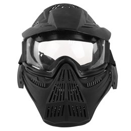 paintball mask airsoft 2019 - Tactical Accessories Airsoft Mask Eyeglass Version Outdoor CS Paintball Protective Mask Party Halloween Masks High Quali