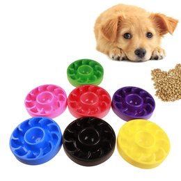 Eating cats online shopping - Anti Choking Pet Bowls Prevent Overeat Plastic Dog Cat Bowl Healthy Slow down Eating Feeder Dish GGA331