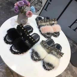 $enCountryForm.capitalKeyWord Canada - Women Rivets open toe flat sandals 3 colour Style women real natural feather turkey fur fuzzy slippers slides mules size 35-40