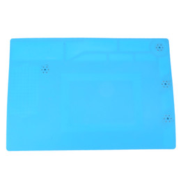 China Heat Insulation Pad Maintenance Platform Electronic Desk Mat Magnetic Silicone Heat Gun Pad Soldering Station Repair Tools suppliers