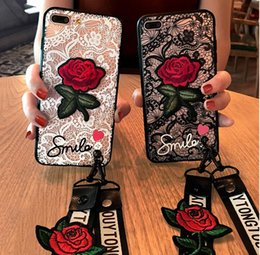 Wholesale Retro Sexy Hollow Lace Rose Flower Phone Cases For iPhone X S Plus Case Chic Embroidery Roses Shell Soft TPU Back Cover