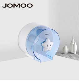 toilet roll paper UK - JOMOO Toilet Paper Holder Bathroom Paper Holders ABS Plastic Circular Shape Washroom Wall Mounted Tissue Roll Box Holder