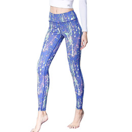 plus size woman gym tights 2019 - High Waist Leggings Sports Yoga Pants Sportswear Tracksuit Athletic Active Wear Capri Fitness Gym Workout Tights Plus Si