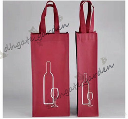 $enCountryForm.capitalKeyWord Australia - Portable Non-woven Fabric Red Wine Storage Bag For One Double Bottles Wine Package Gift Party Packing Handbags