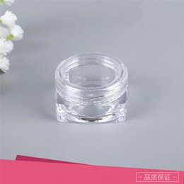 $enCountryForm.capitalKeyWord NZ - 5G 5ML Square Plastic Cosmetic Cream Jar Lip Balm Lotion Plastic Container Small Clear Sample Test Cosmetic Bottle Free With Clear Lic